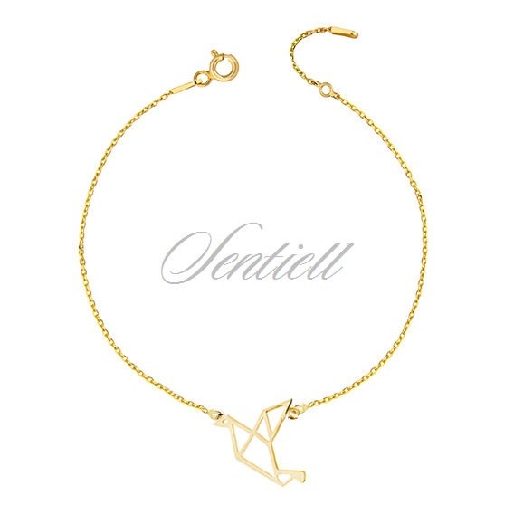 Origami Turtle Dove Gold Plated