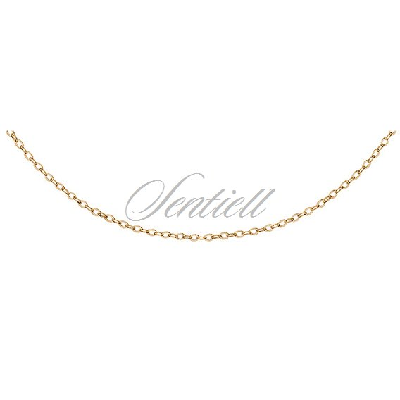 eafd121945a 12064 - Silver (925) Anchor chain Ø 030 gold-plated - - Silver ...