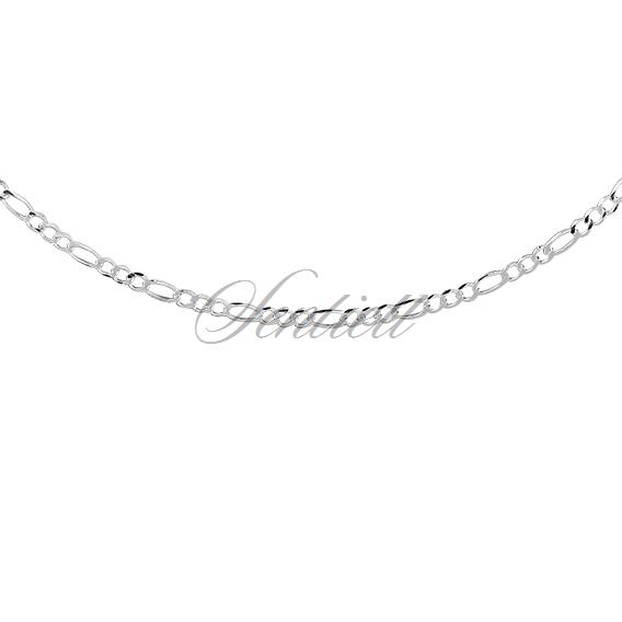 edb9828750bc23 ... Silver (925) diamond-cut chain - figaro extra flat Ø 060 rhodium- ...