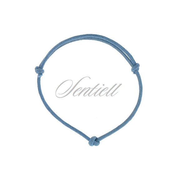 Base bracelet for flat charms - blue matt