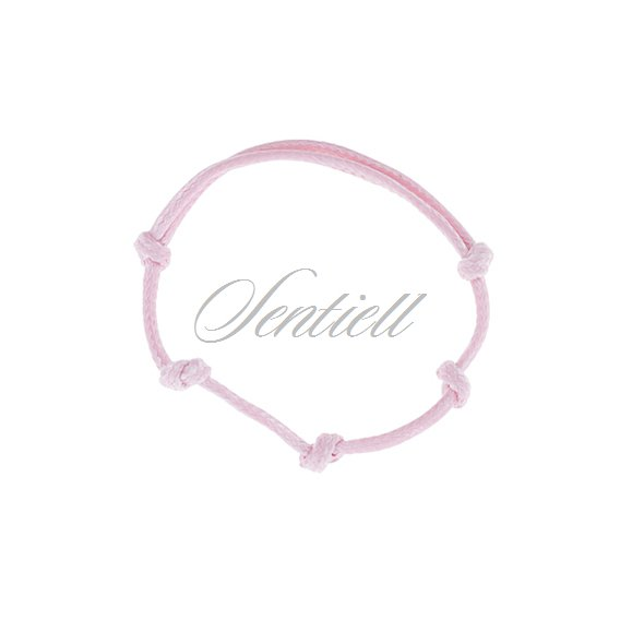 Base bracelet for flat charms - pink polished