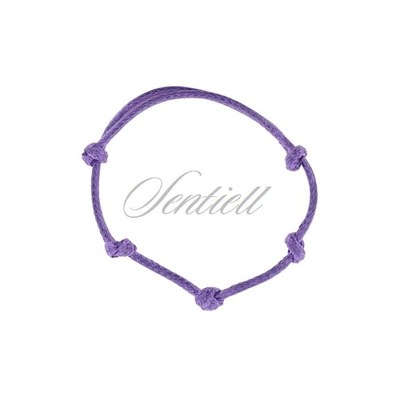 Base bracelet for flat charms - violet polished