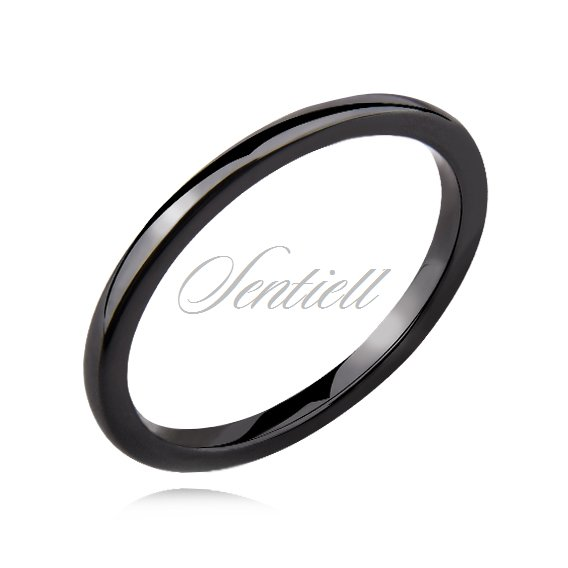 Black ceramic ring 2mm