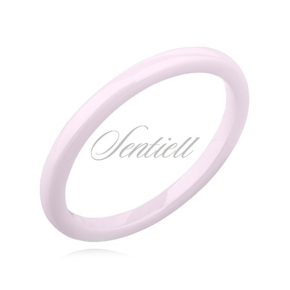 Pink ceramic ring 2mm