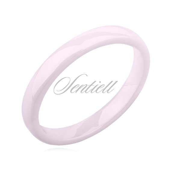 Pink ceramic ring 3mm