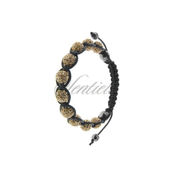 Rope bracelet (925) golden and hematite