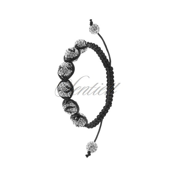 Rope bracelet (925) white with black pattern