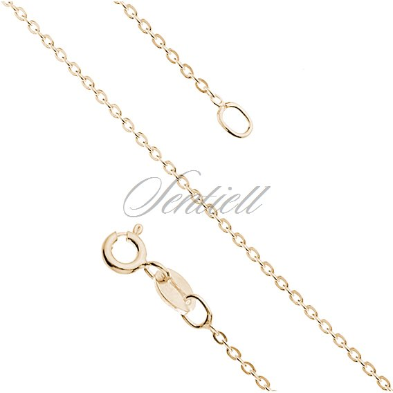 Silver (925) Anchor chain  Ø 030 gold-plated