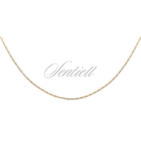 Silver (925) Cardano chain  Ø 030 - gold plated