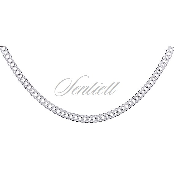 Silver (925) Double rombus chain  Ø 050 weight from 4,3g