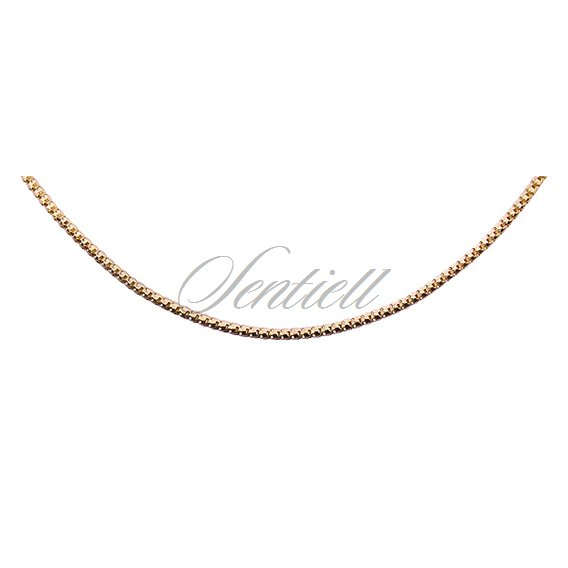 Silver (925) Etrusca 8L chain  Ø 0140 weight from 2,4g -  gold plated
