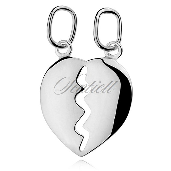 Silver (925) Pendant heart for couples