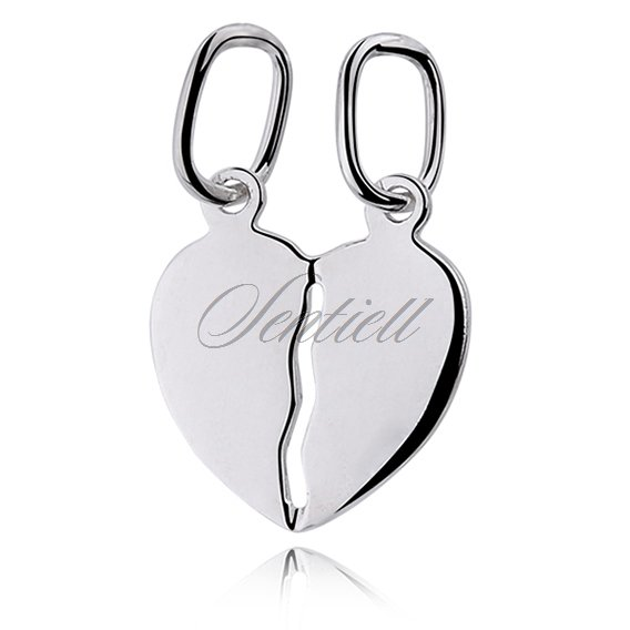 Silver (925) Pendant heart for couples - for engraving