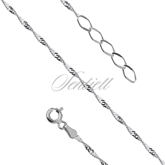 Silver (925) anklet singapur - adjustable size