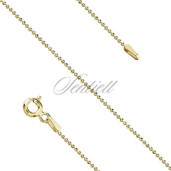Silver (925) ball chain bracelet gold-plated