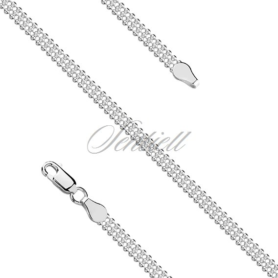 Silver (925) ball chain necklace rhodium-plated
