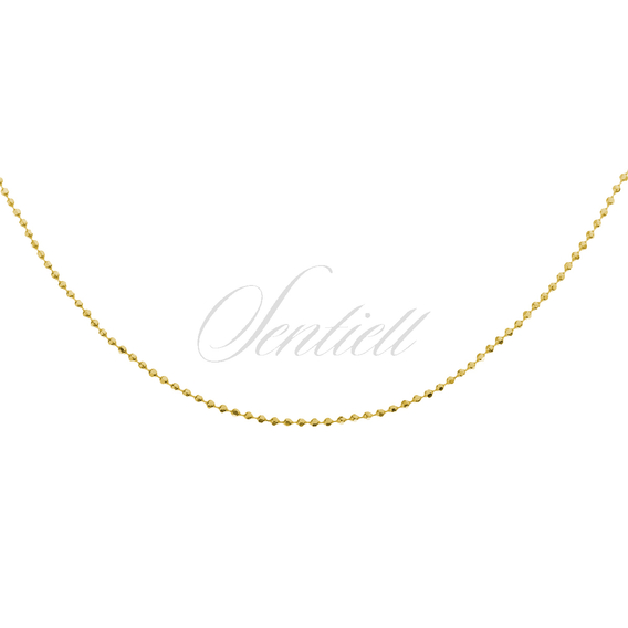 Silver (925) ball chain necklace 8L - gold plated
