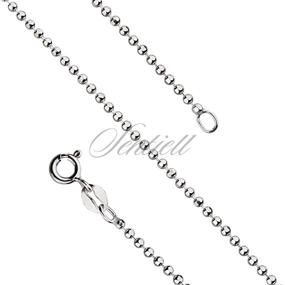 Silver (925) ball chain necklace weight from 4,1g for military tags