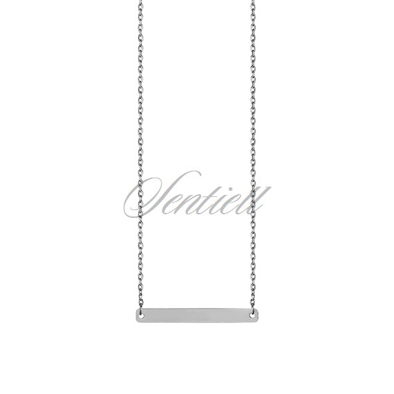 Silver (925) bar necklace