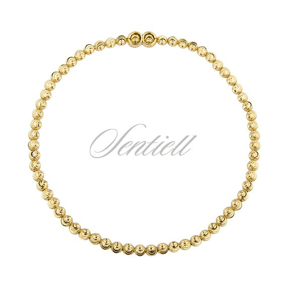 Silver (925) bracelet diamond-cut, gold-plated