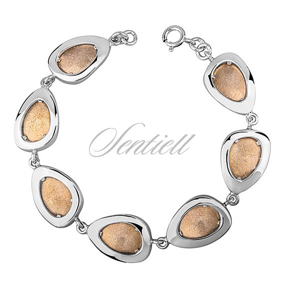 Silver (925) bracelet  gold-plated and diamond-cut