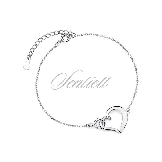 Silver (925) bracelet heart and infinity