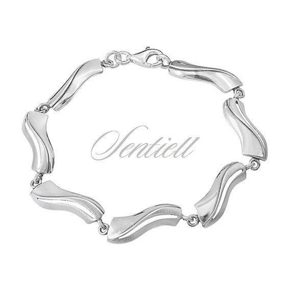 Silver (925) bracelet high polished and matte