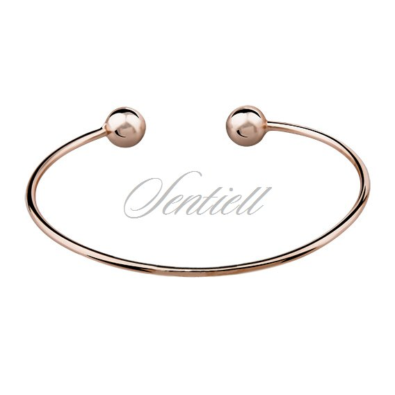 Silver (925) bracelet, rose gold-plated
