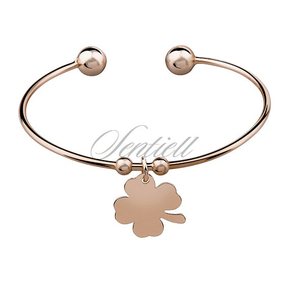 Silver (925) bracelet rose gold-plated clover