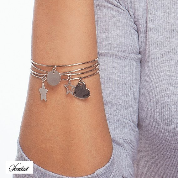 Silver (925) bracelet with circle pendant