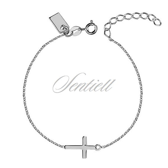Silver (925) bracelet with cross