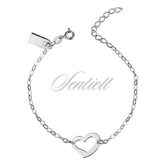 Silver (925) bracelet with heart