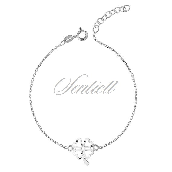 Silver (925) bracelet with open-work clover pendant