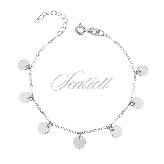 Silver (925) bracelet with round pendants