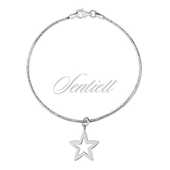 Silver (925) bracelet with star