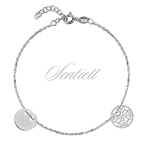 Silver (925) bracelet with two circles