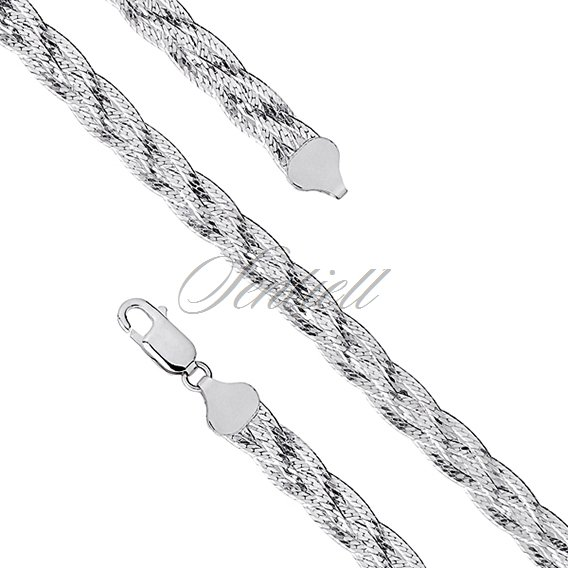 Silver (925) braided plait chain necklace Ø 040 weight from 15,0g