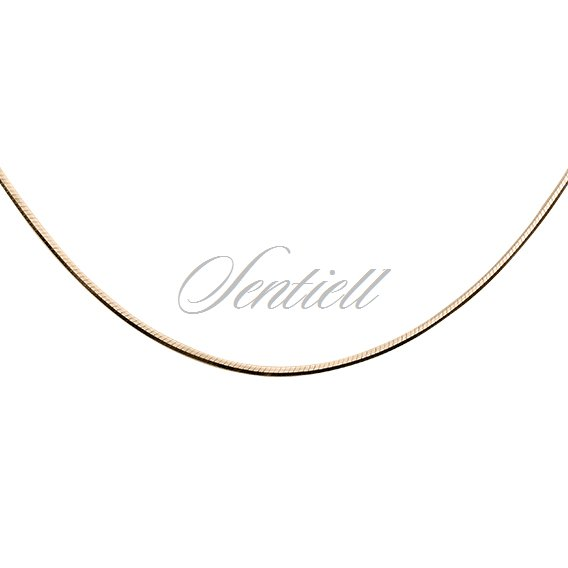 Silver (925) chain 8 sides snake  Ø 020 weight from 2,4g - gold plated