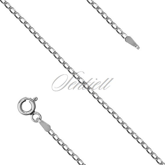 Silver (925) chain - Cheval rhodium-plated