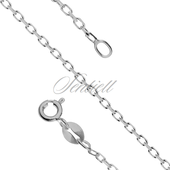 Silver (925) chain Rolo diamond cut, rhodium-plated