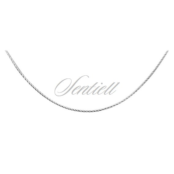 Silver (925) chain diamond cut round  Ø 020 weight from 2,4g