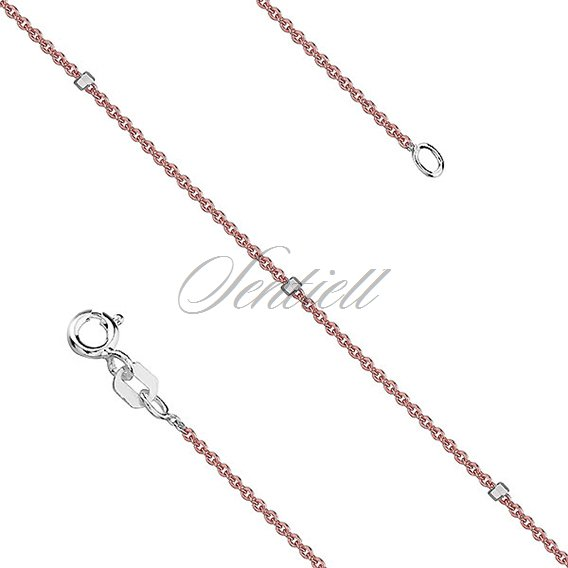 Silver (925) chain necklace Rolo 8L + cube