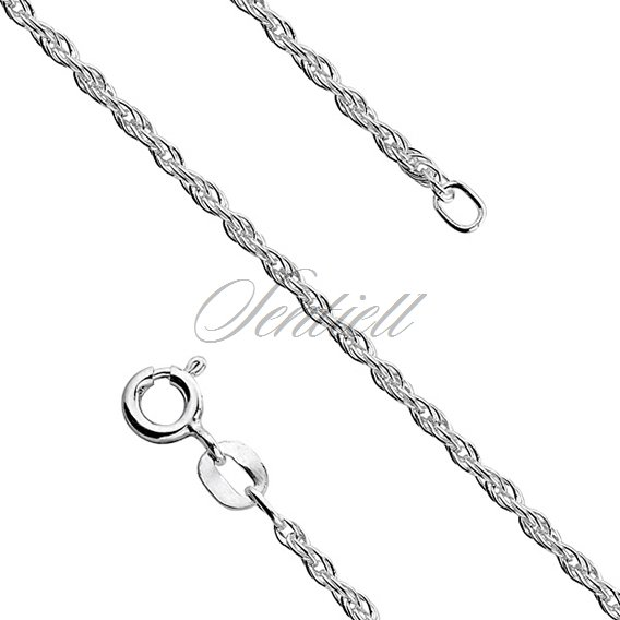 Silver (925) chain necklace  - triple anchor  Ø 030 weight from 2,8g