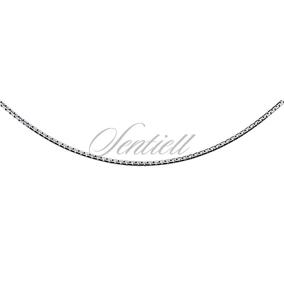 Silver (925) chain necklace venezian box  Ø 020 diamond-cut