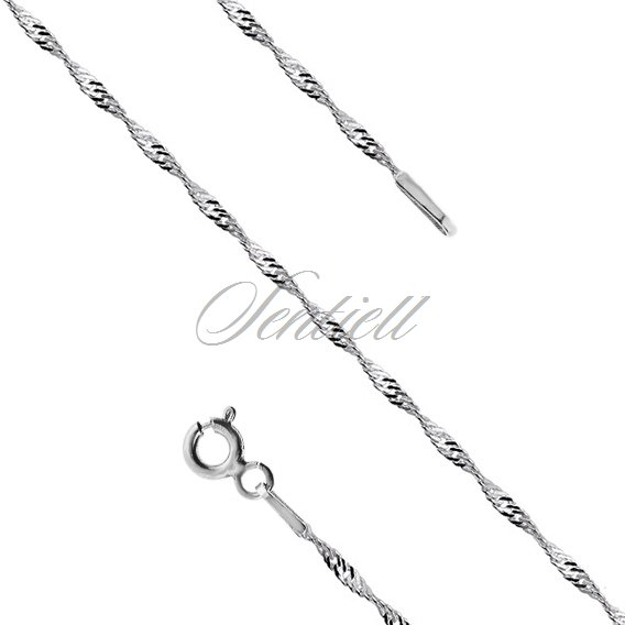 Silver (925) chain singapur rhodium-plated