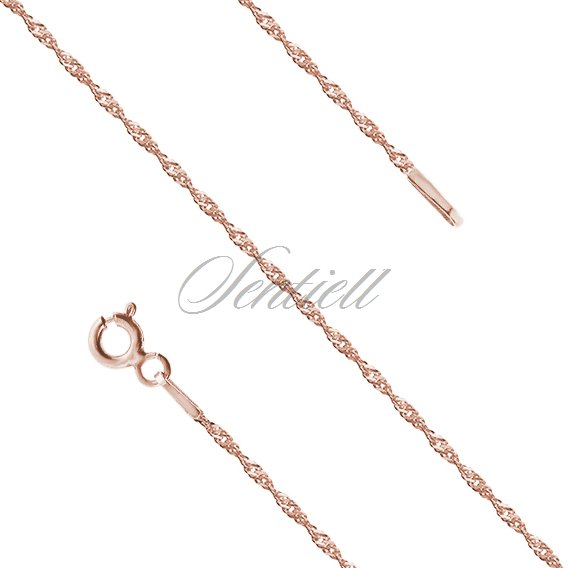 Silver (925) chain singapur Ø 020, rose gold-plated