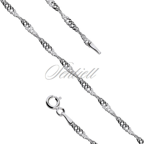 Silver (925) chain singapur Ø 030 weight from 1,75g