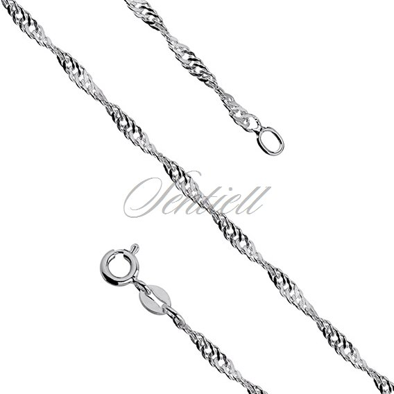 Silver (925) chain singapur Ø 034 weight from 2,3g