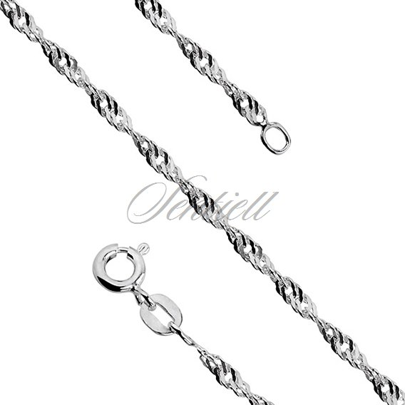 Silver (925) chain singapur Ø 040 weight from 3,2g