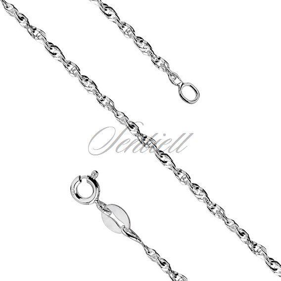 Silver (925) chain singapur diamented Ø 040 weight from 2,8g